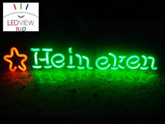 Painel Letreiro Tubo De Gas De Neon Cervejaria Heineken - R$ 359,90 no MercadoLivre