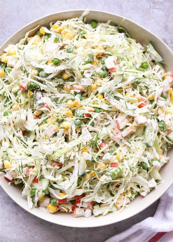 Crab and Cabbage Salad
