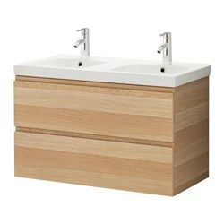 Godmorgon odensvik meuble lavabo 2tir effet ch ne for Vanite salle de bain ikea