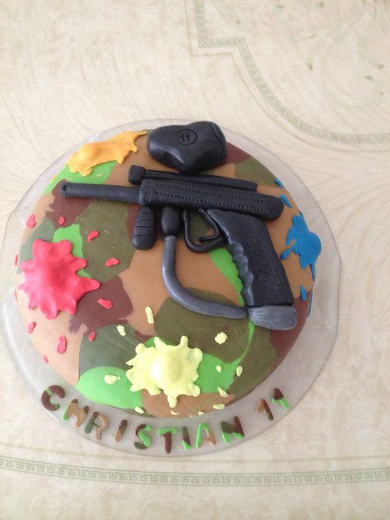 Paintball taart, Christian 11 jaar