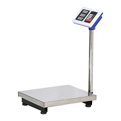 Go2buy Silver Digital Platform Scale 660lbs Max Weight For Postal Industry Pet Weighing Platform Surface Design Design