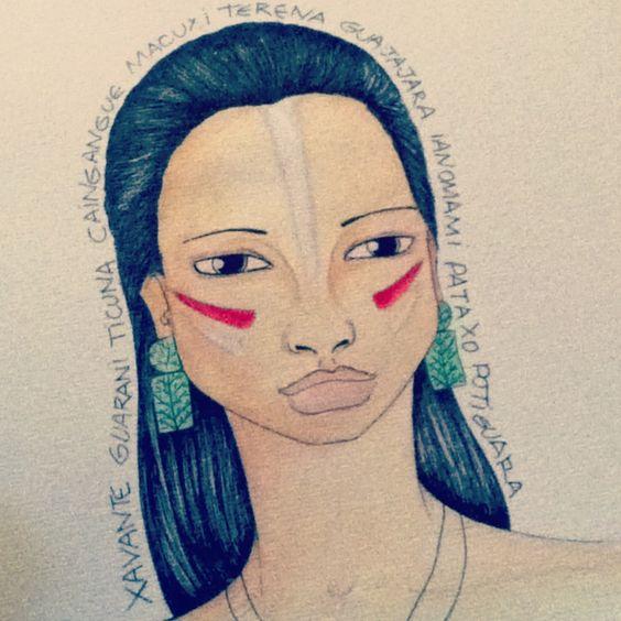 #brasilidades #índios #esboço #ilustração #arte