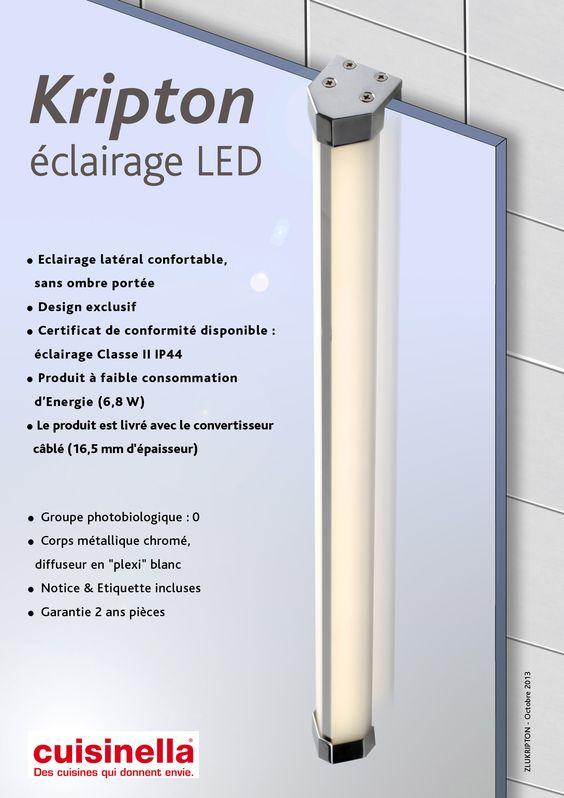 Eclairage LED KRIPTON Book Designer Groupe SOFIVE Pinterest - maison classe energie d