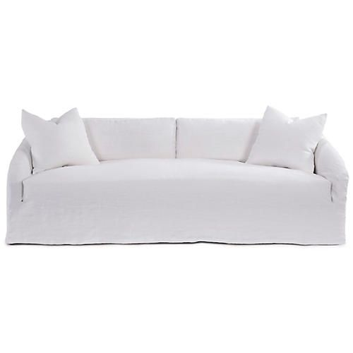 Reilly Slipcover Sofa Ivory Linen