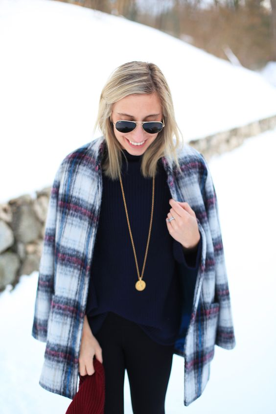 Plaid Coat - Lemon Stripes: