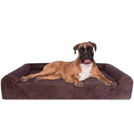 Orthopedic Dog Bed Deluxe Memory Foam Sofa Lounge Jumbo Extra Large Brown Walmart Com Best Orthopedic Dog Bed Dog Sofa Bed Dog Lounge Bed