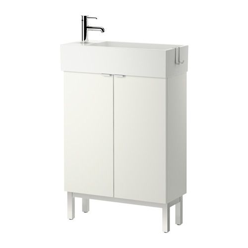 Ikea lill ngen sink cabinet with 2 doors white 23 5 for Kitchen cabinets 8x10