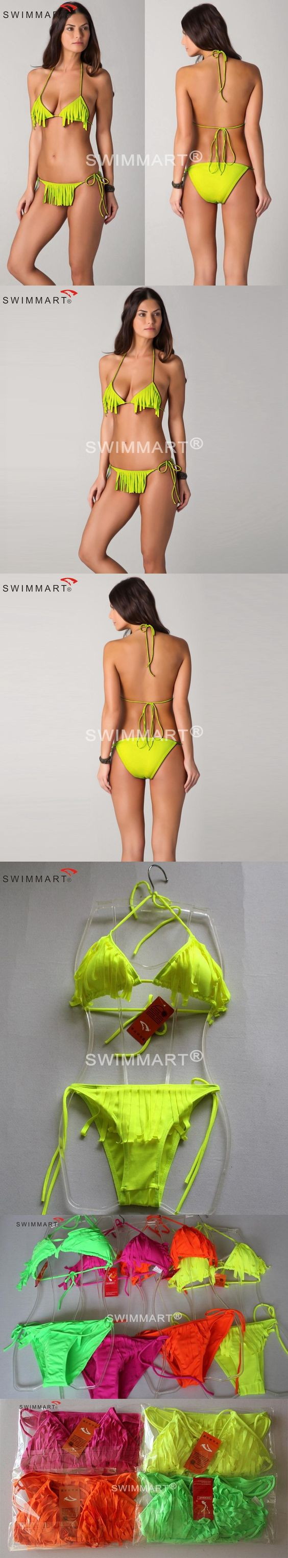 Hot Sale Push Up Bikinis 2016 Vintage Swimsuits Designer Fashion Crochet Bikinis set Both Top+Bottom Tassel Swimsuit S.M.L.XL $9.99