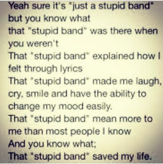 Yeah sure it's just a stupid band