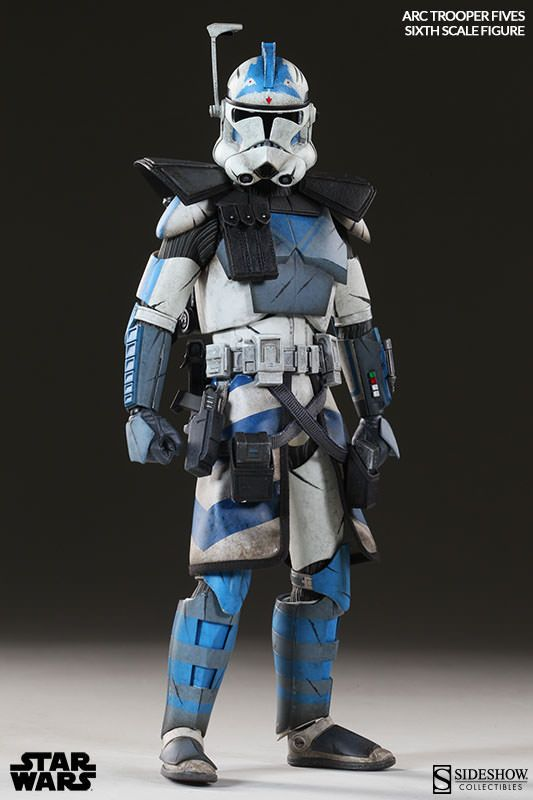 Star Wars figurine 1/6 Arc Clone Trooper Fives Phase II ...