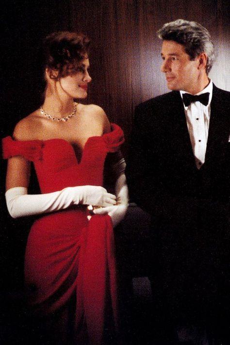 that film ... dress - Julia Roberts - pretty woman - Uma Linda Mulher