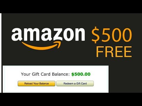 How To Get A Free 500 Amazon Gift Card Amazon Gift Card