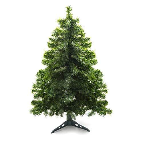 Prextex 4 Feet Premium Hinged Artificial Canadian Fir Christmas Tree Lightweight Easy To Assemble With Chris Fir Christmas Tree Christmas Tree Stand Tree Stand