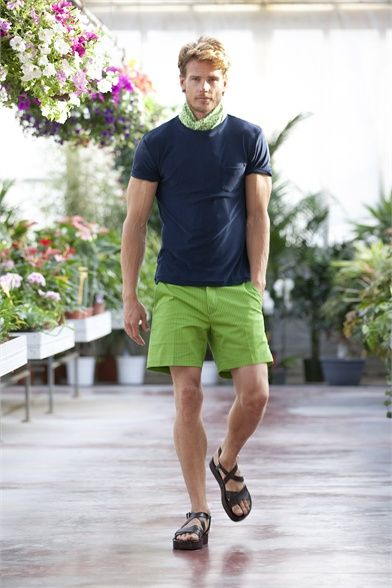 Green Shorts Mens