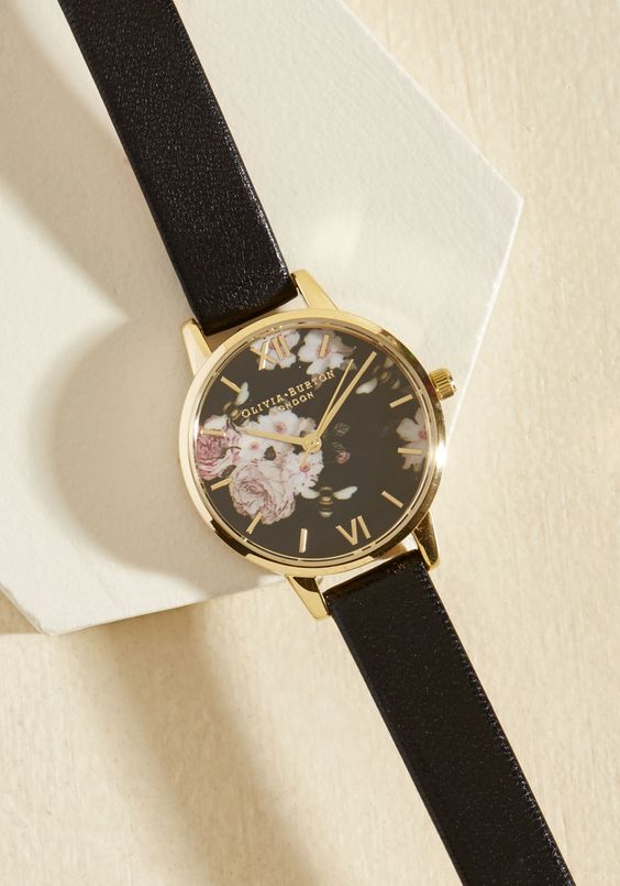 Perennially Punctual Watch - Midi. Your affinity for early arrivals always makes an impression, for which you have this Flower Show watch by Olivia Burton to thank!  #modcloth