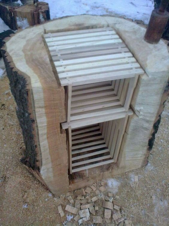 Beekeeping equipment can be constructed in many different ways.  Check this out.