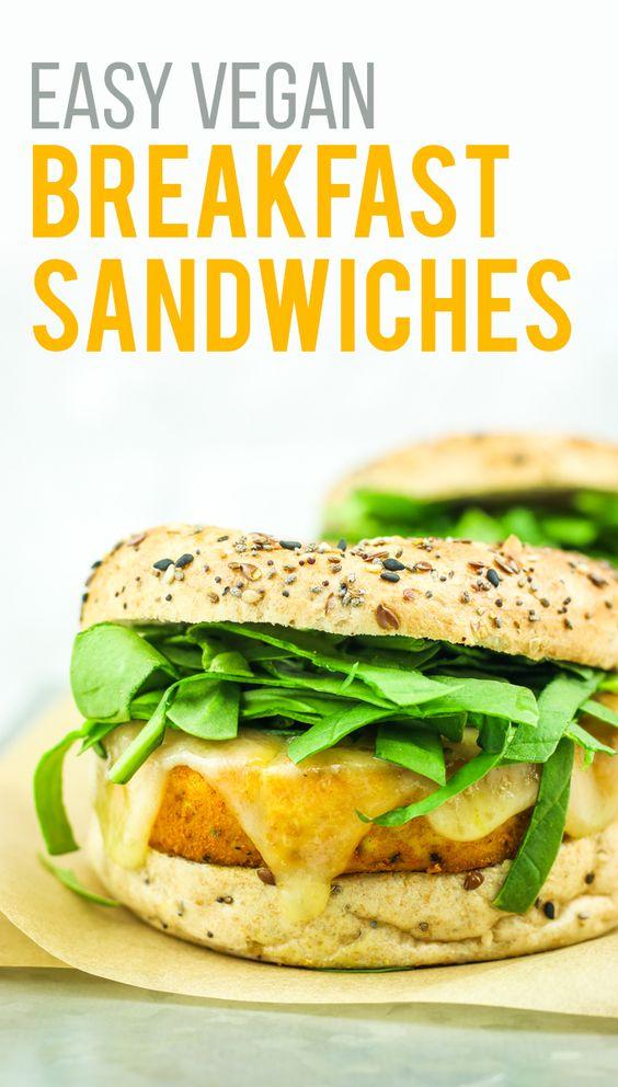 Easy Tofu Breakfast Sandwich Recipe Breakfast Meal Prep Tofu Breakfast Breakfast Sandwich