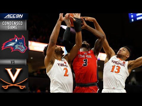Stony Brook Vs Virginia Condensed Game 2019 20 Acc Men S Basketball Youtube With Images Mens Basketball Stony Brook Men