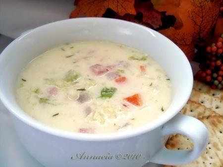 Creamed cabbage soup: awesome for winter, but I vegetarianize it first! Would be good to add in rice.