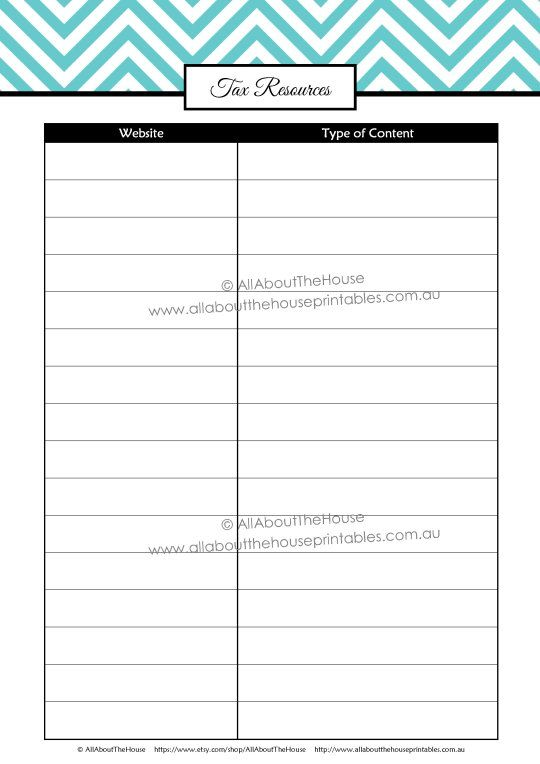 printable tax planner tax binder tax resources what can i tax deduction list of tax. Black Bedroom Furniture Sets. Home Design Ideas