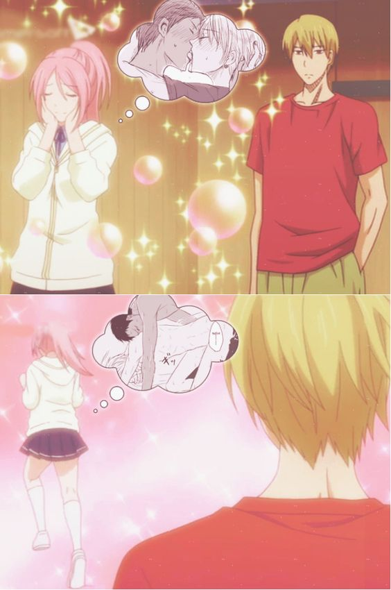 "firestaar: ""  I know Momoi to be the main AoKise shipper (^ヮ^)/ "":"
