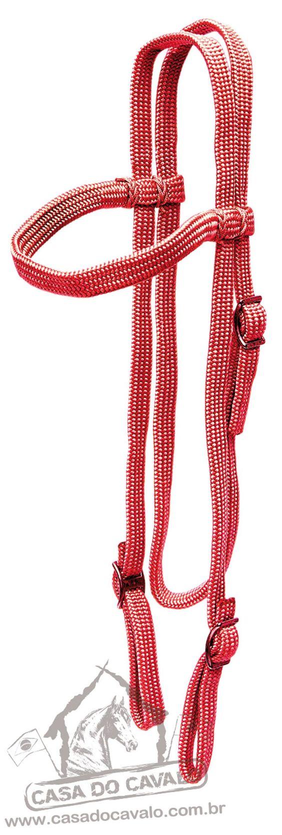 Cabeçada de Seda CV   ( Seda ) Confeccionado em corda de seda chata super resistente, com ferragens em metal anti-ferrugem.