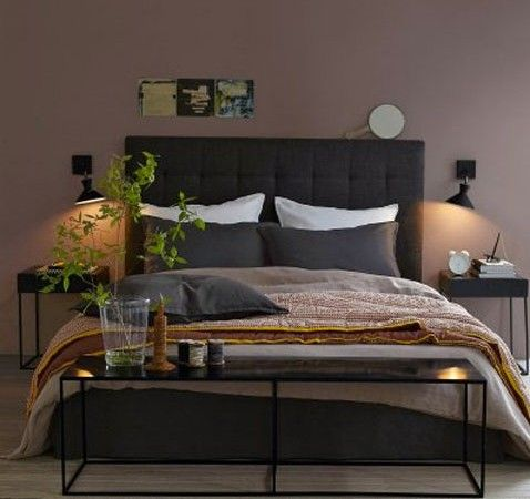 wandfarbe taupe im schlafzimmer sch ner wohnen. Black Bedroom Furniture Sets. Home Design Ideas