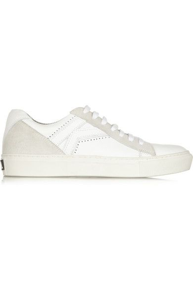 These luxe sneakers were MADE for stylish/comfy airport dressing // Karl Lagerfeld Leather and Suede Sneakers