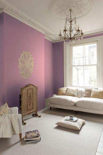 Peinture Salon 30 Couleurs Tendance Pour Repeindre Le Salon Mauve Living Rooms And Mauve Color