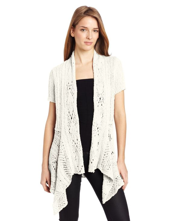 Woolrich Womens Cable Hollow Cardigan