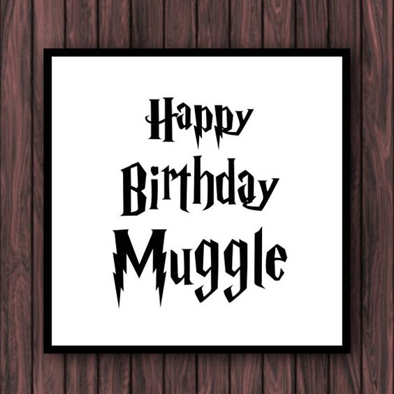 harry potter happy valentines day meme - Harry Potter Muggle Birthday Greeting Card by