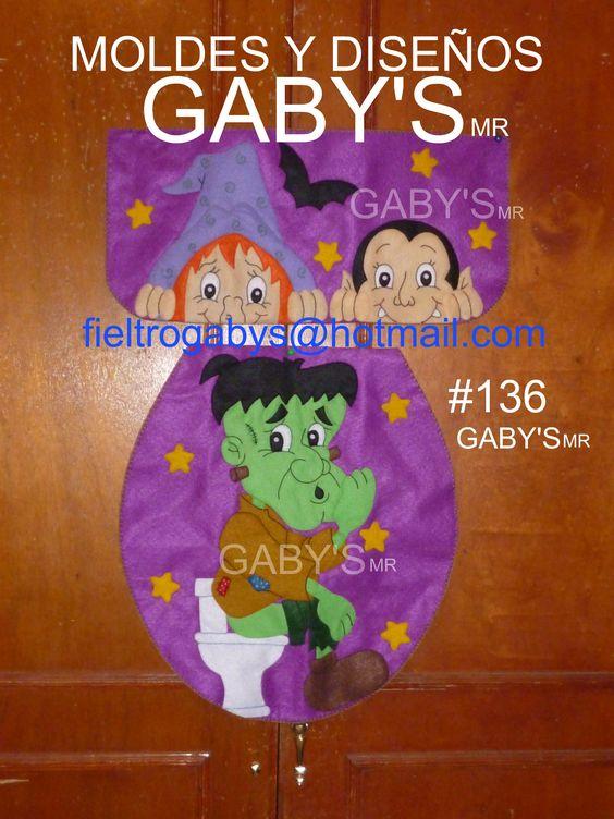 Juegos De Baño Gabys:Madera Halloween Boo