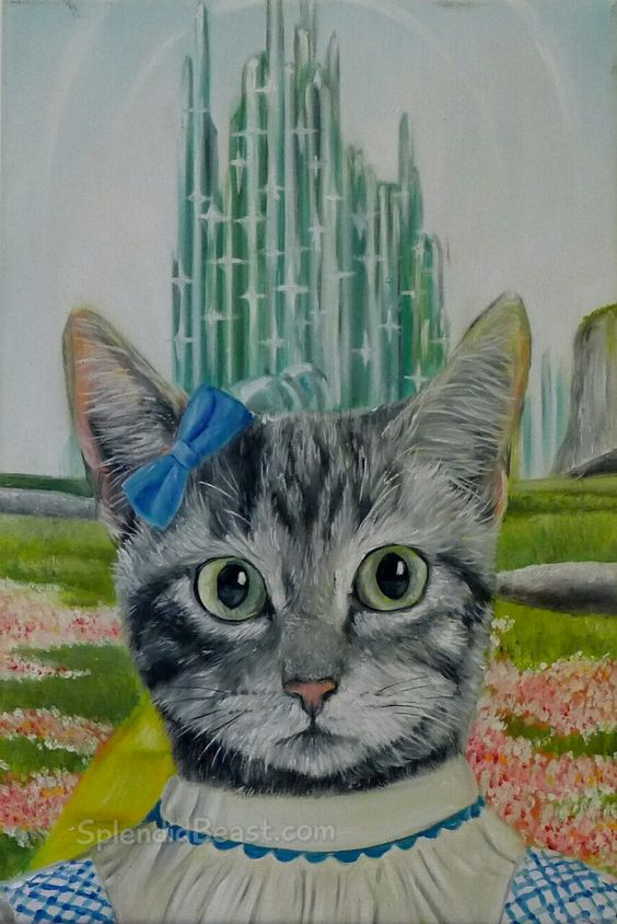 Wizard of Oz oil painting Dorothy cat oil painting from Splendid Beast