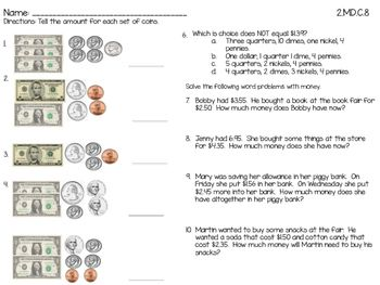 Pre School Worksheets : counting sets of money worksheets Counting ...