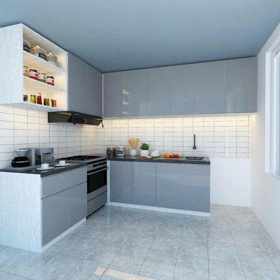 contoh kitchenset alumunium - (pinterest)