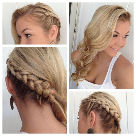 Side Dutch Braid To The Back Into Classic Curls Hair Pinterest