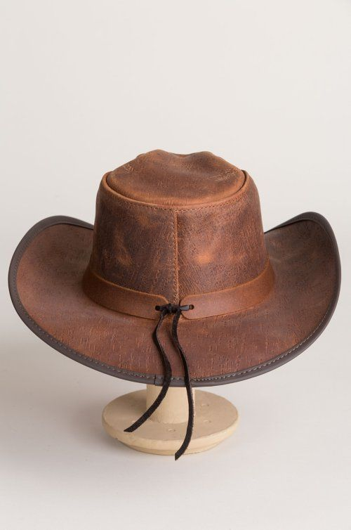 Cyclone Leather Cowboy Hat With Buffalo Nickels Overland Leather Cowboy Hats Cowboy Hats Leather Hats