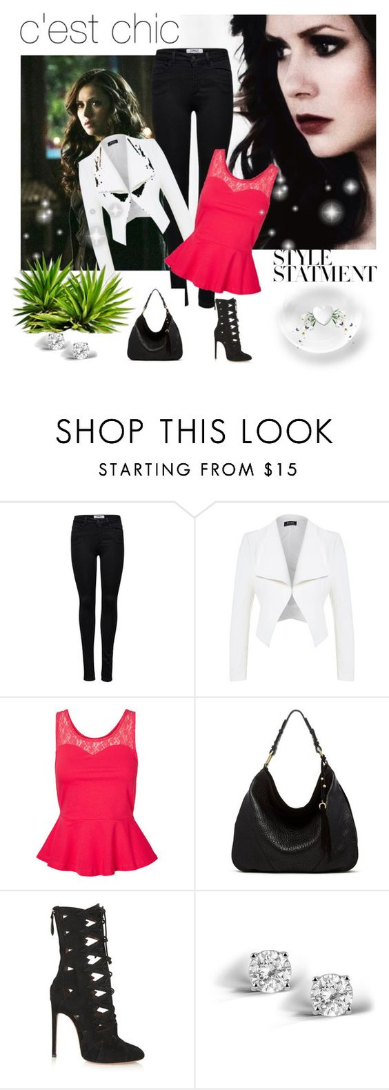 """Rosalie Gilbert"" by chantebreytenbach ❤ liked on Polyvore featuring ONLY, Vero Moda, Ella Moss, Alaïa and Glitzy Rocks"