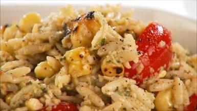 Giada De Laurentiis - Orzo with Artichoke Pesto and Grilled Corn