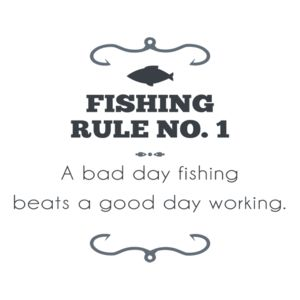 Bad day fishing beats good day working t shirts shirts for Good day for fishing