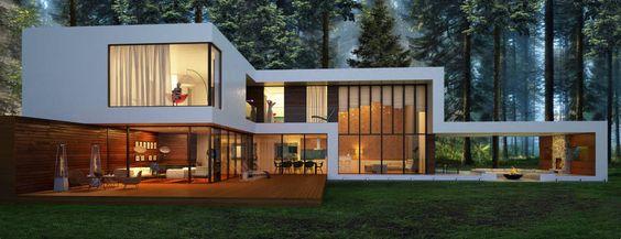 Дом в поселке Брюховичи (De Aleksandr Zhydkov architect)