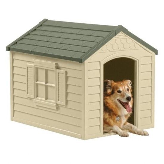 Durable Resin All Weather Extra Large Suncast Pet Dog House Home
