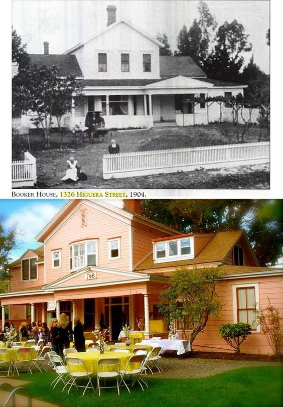 The GPhi SLO Pink Palace back in 1904 and now in 2012! #gammaphibeta: Gamma Fly Beta, Gamma Phiesty, Gphi Slo, 2012 Gammaphibeta, Pink, Phi Beta, Palace, Chapter Facilities, Beta Chapter