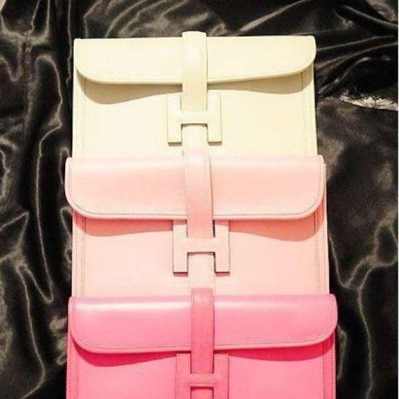 pink Hermes clutches taken #snapette