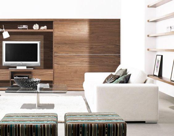 wohnraum-wohnzimmer-sofa-heimkino (2) Interieur Design Pinterest