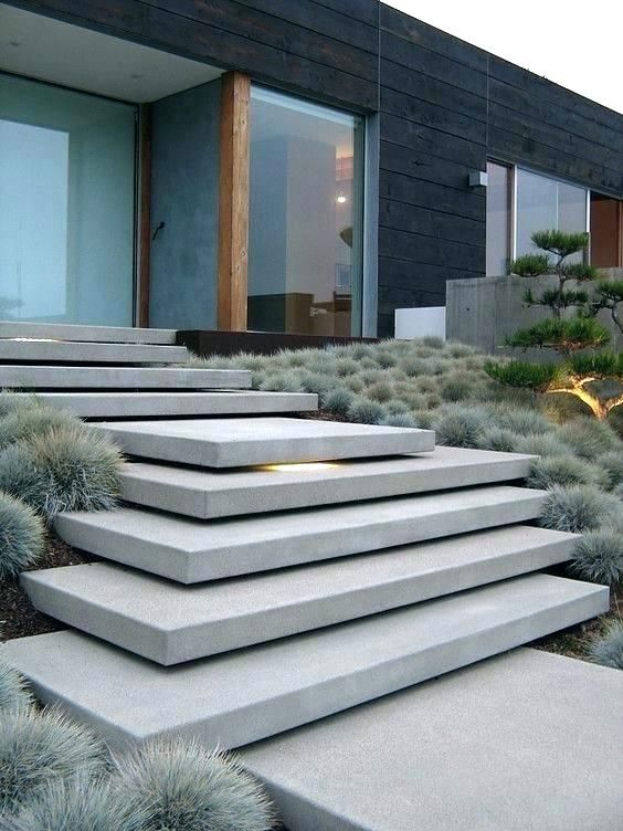Outside Stairs Design Outside Stairs Design Outside Stairs Design Architecture Exterior Stairs Modern Landscaping