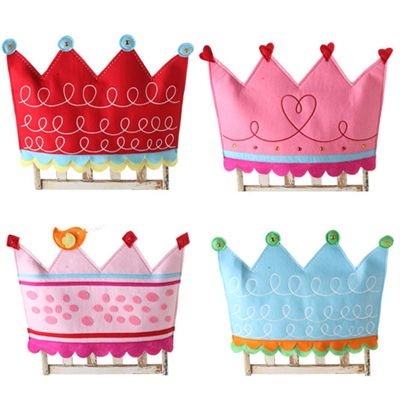 Crown chair backers--one for every little girl (or bridesmaid) at the party...take home favor for her very own chair at home!