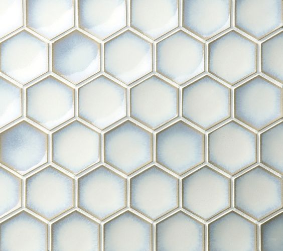 Ceramic Mosaic - Hexcurve Glazed 52 x 60mm - 84842