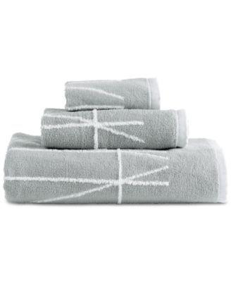 Dkny Geometrix Cotton Fingertip Towel White Black Towels Hand Mattress Furniture