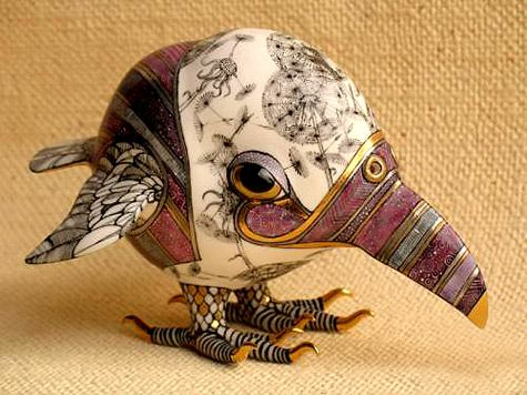 This site has such a treasure trove of ceramic art. The whimsical animals on this page are so fun. 475px-356px-1299775817_vorona-s-oduvanc.jpg http://www.veniceclayartists.com/ceramic-animal-art/